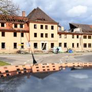 Burgau: Das alte Krankenhaus wird abgerissen.