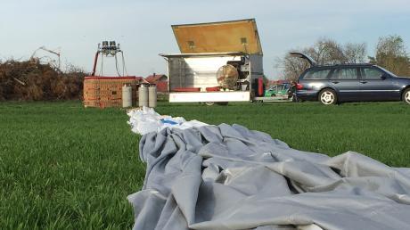 Der Start dieses Heißluftballons missglückte am Samstag im Landkreis Landsberg am Lech.