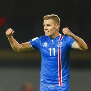 Alfred Finnbogason erzielte einen Treffer für die Isländer. Foto: Birgir Thor Hardarson/EPA