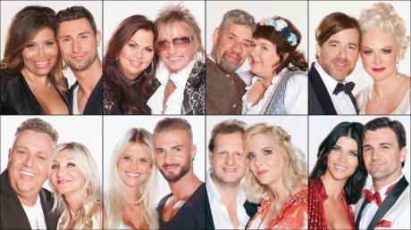 """Die Teilnehmer von """"Sommerhaus der Stars 2018"""": Patricia Blanco, Micaela Schäfer, Bert Wollersheim und Uwe Abel waren anfangs an der Algarve dabei."""