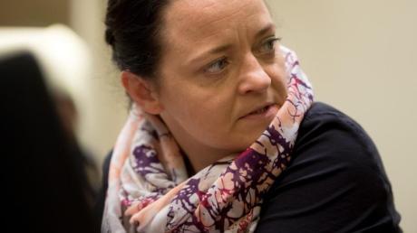 Beate Zschäpe auf der Anklagebank beim NSU-Prozess vor dem Oberlandesgericht München. Foto: Tobias Hase