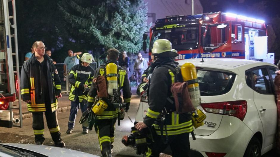 Wohnungsbrand, Studentenwohnheim, Göggingen, Römrstädter Str.,