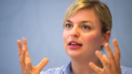Katharina Schulze, Spitzenkandidaten der bayerischen Grünen, will ihre Partei zur zweitstärksten Kraft hinter der CSU machen.