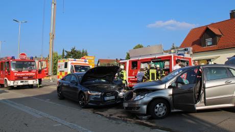 In Illerrieden sind am Mittwoch zwei Autos kollidiert.