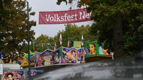 Volksfest Neusäß Aufbau / Sicherheit /