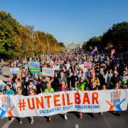 Kundgebung gegen Rassismus in Berlin