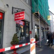 Oberer Graben 8, einsturzgefährdetes Haus, Augsburg