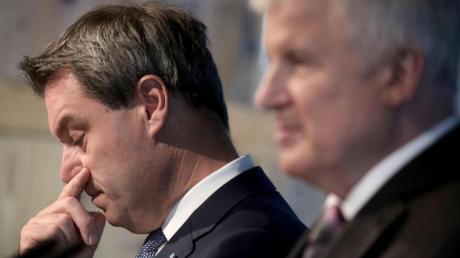 Bayerns Ministerpräsident Markus Söder (l.) will Horst Seehofer auch als CSU-Chef beerben. Foto: Michael Kappeler
