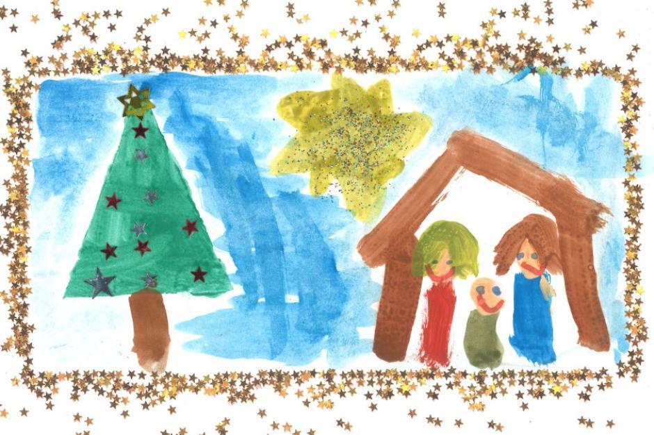 So schöne Weihnachtskarten haben Kinder für uns gemalt - Nachrichten ...