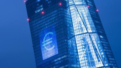 Blick auf die Europäischen Zentralbank (EZB) in Frankfurt am Main.