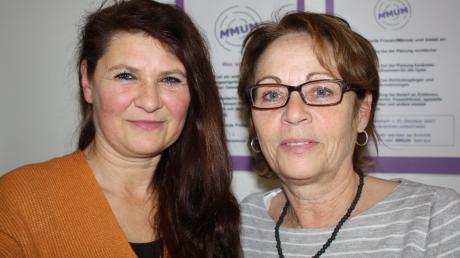 Christina Übele (links) und Marion Stockner-Stengele von dem Angebot für Frauen MMUM.
