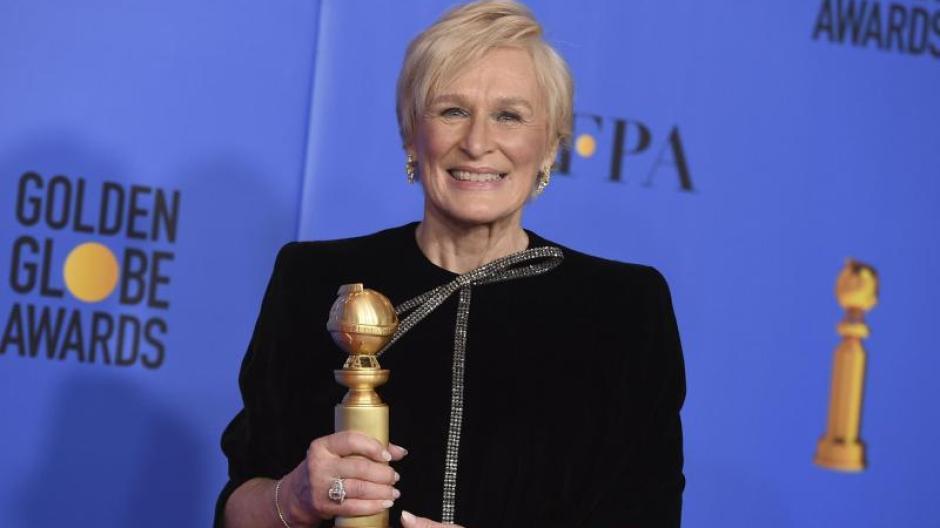 Porträt Golden Globe Für Glenn Close Sie Ist Die Magierin Mit Dem