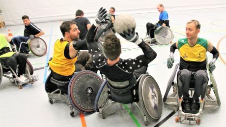 Illerrieder Rollstuhlrugbyspieler