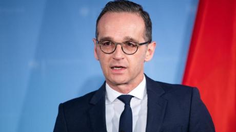 Der deutsche Chefdiplomat Heiko Maas nimmt in Brüssel am Außenministertreffen teil.
