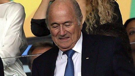FIFA-Präsident Joseph Blatter blickt nach dem Confederations Cup optimistisch auf die kommende WM. Foto: Antonio Lacerda