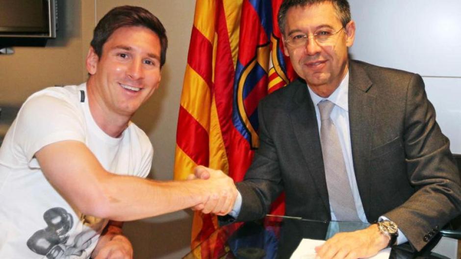 fußball messi und barcelona unterzeichnen