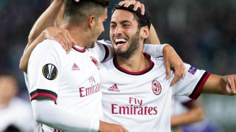 Viel zu jubeln hatte Ex-Bundesliga-Profi Hakan Calhanoglu und seine Teamkollegen vom AC Mailand bisher nicht.