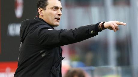 Der AC Mailand trennte sich von Trainer Vincenzo Montella.