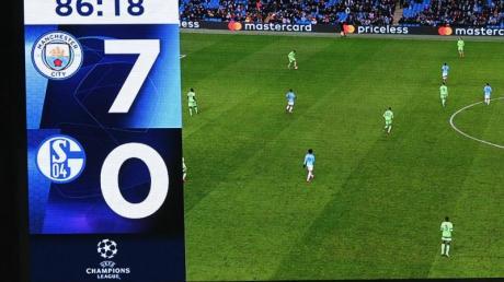 Der FC Schalke 04 ging im Champions-League-Rückspiel bei Manchester City mit 0:7 unter.