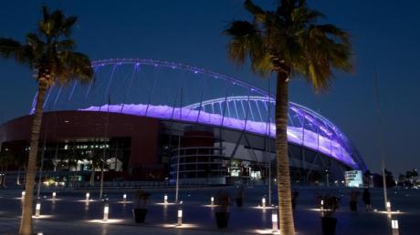 Das Khalifa International Stadium in Doha für die Fußball-WM in Katar. Foto: Sven Hoppe