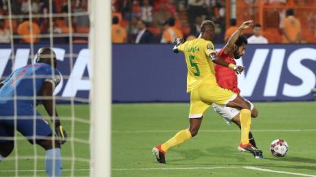 Mohamed Salah erzielte das 1:0 für Ägypten gegen Uganda.