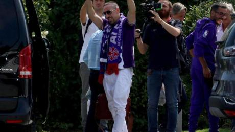Franck Ribéry bei seiner Ankunft in Florenz.