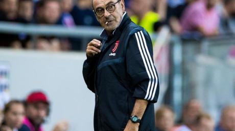 Fehlt beim Auftakt der Serie A: Juve-Coach Maurizio Sarri. Foto: Kenta Jã¶nsson/Bildbyran via ZUMA Press