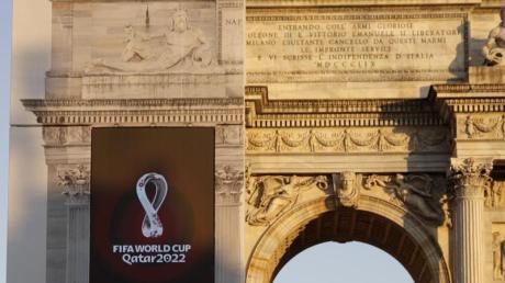 Die FIFA hat das Logo für die Fußball-WM 2022 in Katar vorgestellt. Foto: Luca Bruno