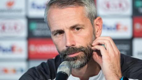 Startet mit Gladbachs in die Europa League: Trainer Marco Rose. Foto: Marius Becker