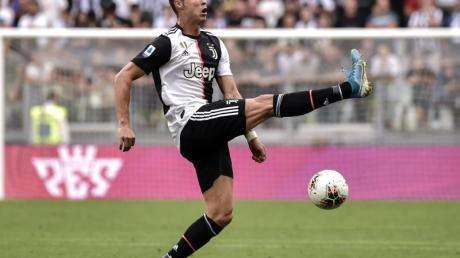 Turins Cristiano Ronaldo erzielte gegen AC Spal Ferrara das 2:0. Foto: Marco Alpozzi/Lapresse/Lapresse via ZUMA Press