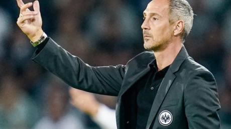 Adi Hütter ist der Trainer von Eintracht Frankfurt. Foto: Uwe Anspach/dpa