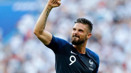 Frankreichs Olivier Giroud war der Matchwinner gegen Island. Foto: David Vincent/AP/dpa