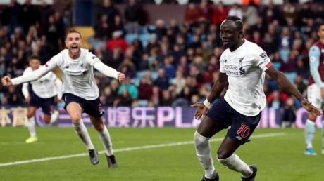 Liverpools Sadio Mane (r) erzielte das späte Siegtor. Foto: Nick Potts/PA Wire/dpa