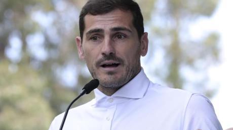 Hat nach seinem Herzinfarkt erstmals wieder trainiert: Iker Casillas. Foto: Luis Vieira/AP/dpa