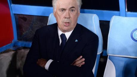 Trainer Carlo Ancelotti enttäuschte mit SSC Neapel daheim beim Spiel gegen RB Salzburg.