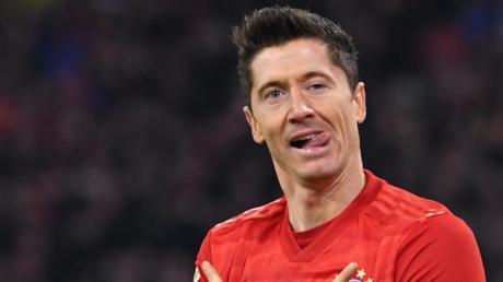 Bayern Münchens Stürmer Robert Lewandowski ist derzeit in Topform. Foto: Sven Hoppe/dpa