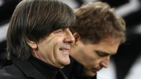 Joachim Löw stellte sich nach dem 4:0 gegen Weißrussland den Fragen der Medienvertreter.