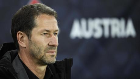 Hat sein Team nach der blamablen Niederlage gegen Lettland kritisiert: Österreichs Trainer Franco Foda. Foto: Robert Jaeger/APA/dpa