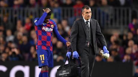 Barcelona-Stürmer Ousmane Dembélé verletzte sich gegen den BVB.