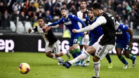 Sorgte per Elfmeter für den Ausgleich im Spiel gegen Sassuolo Calcio: Cristiano Ronaldo von Juventus Turin.