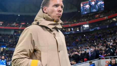 Leipzigs Trainer Julian Nagelsmann war trotz des Gruppensiegs nicht begeistert.