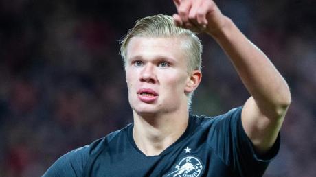 Erling Haaland steht noch bei RB Salzburg unter Vertrag.