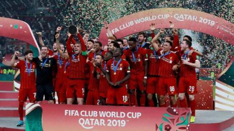 Liverpools Spieler feiern den Gewinn der Club-WM.