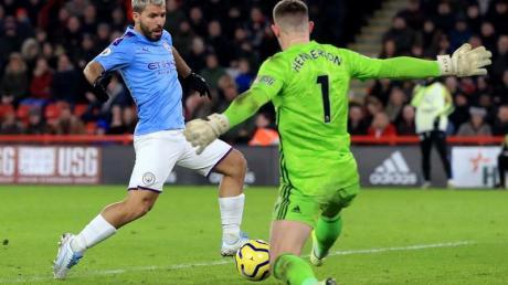 Rettete Man City den Sieg in Sheffield: Torschütze Sergio Agüero.