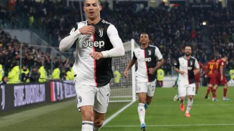 Cristiano Ronaldo brachte Juventus gegen AS Rom auf die Siegerstraße.