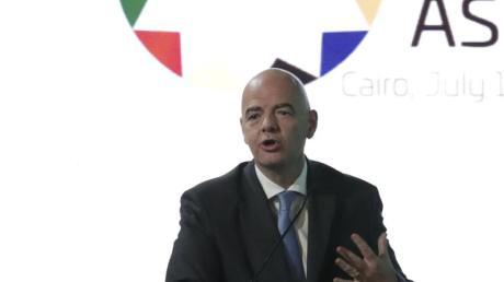 Hat sich für einen veränderten Spielrhythmus beim Afrika-Cup ausgesprochen: FIFA-Präsident Gianni Infantino.