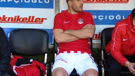 Kam beim Sieg von Antalyaspor von der Bank:Lukas Podolski.