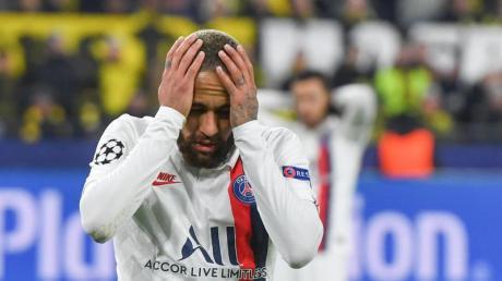 Angefressen: PSG-Star Neymar nach der Pleite beim BVB.