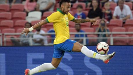 Soll für Brasilien bei Olympia am Ball sein: Superstar Neymar.