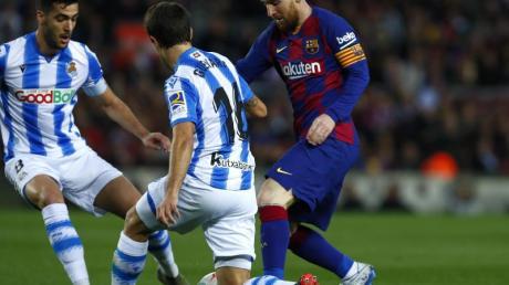 Lionel Messi (r) war einmal mehr der Matchwinner für den FC Barcelona.
